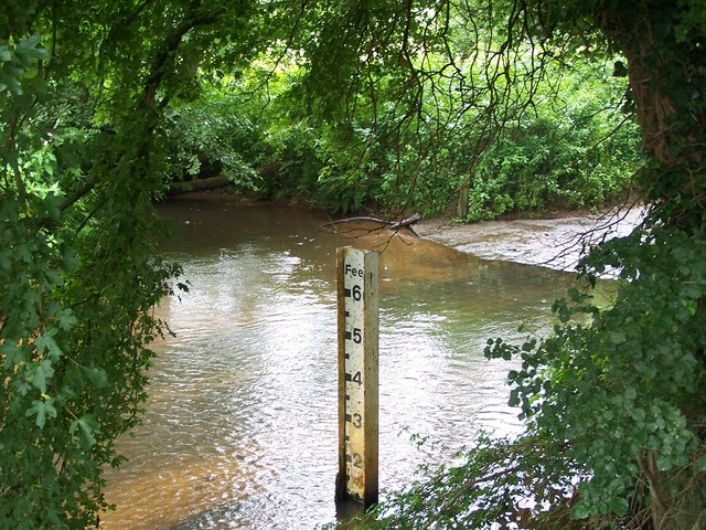 Ford and depth marker, West Wellow