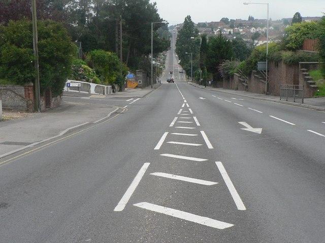 Branksome: Alder Road – straight down, straight back up