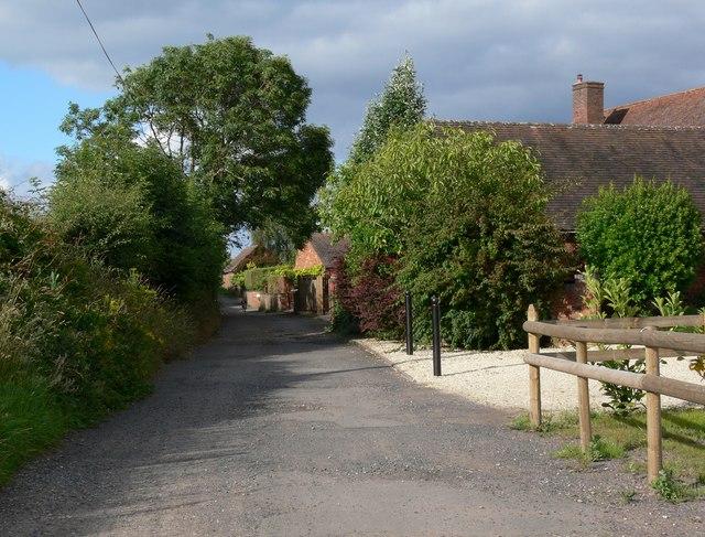 Lane behind Low Habberley Farm