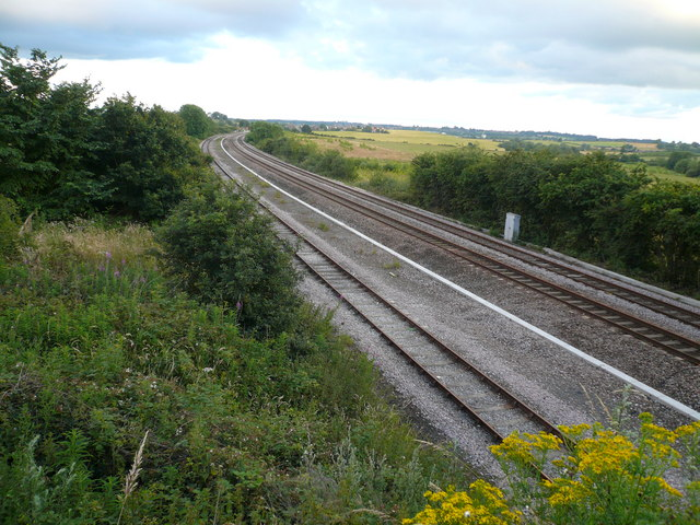 Railway Track - South View from Love Lane Railway Bridge