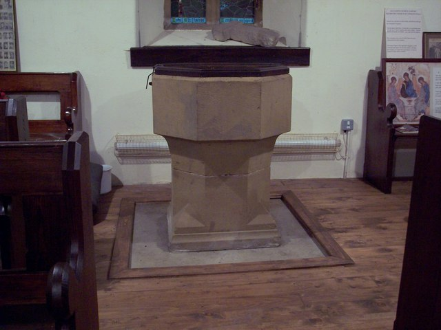 All Saints Church, Hawnby - Font