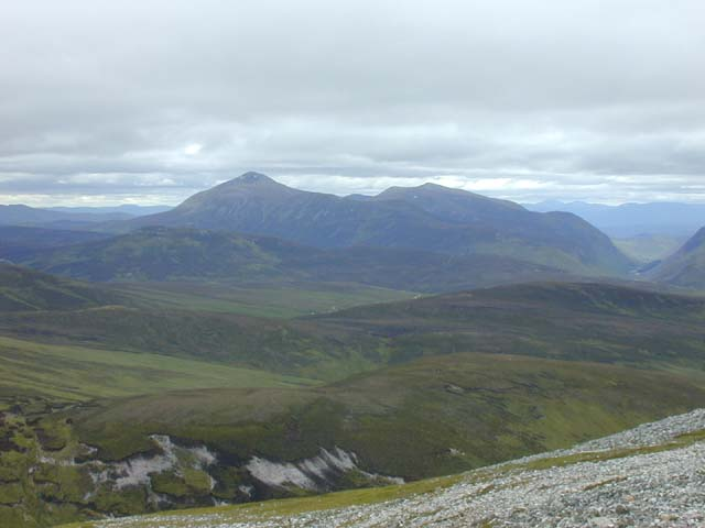 View west from Geal Charn
