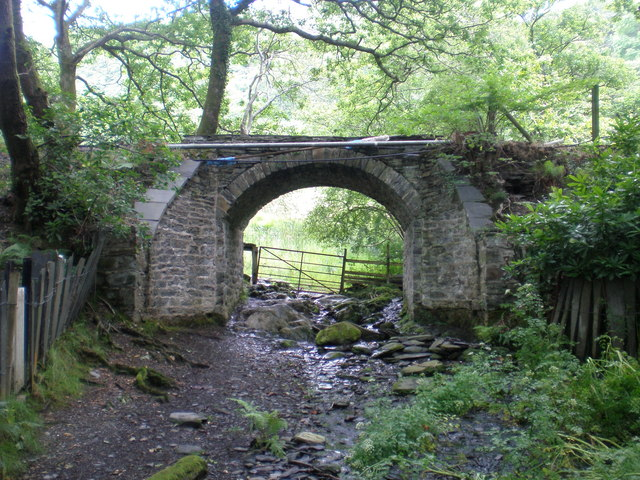 Viaduct next to Dolgoch Station.