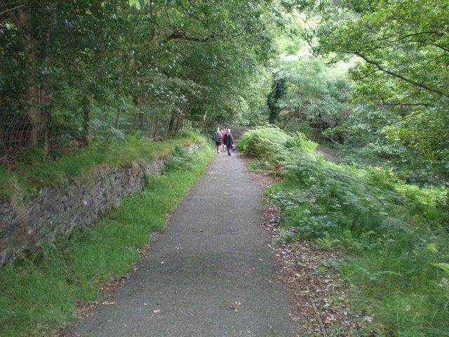 Dolgoch Station top path.