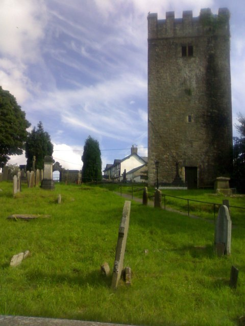 The tower of the Church of St. David & St. Cyfelach