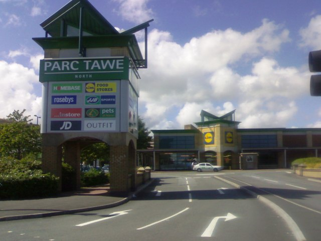 The entrance to Parc Tawe North