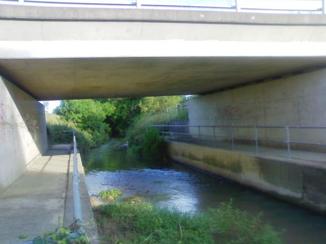 River Isbourne under the A46
