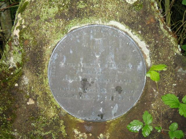 Plaque, Calvert Jubilee Nature Reserve near Edgcott