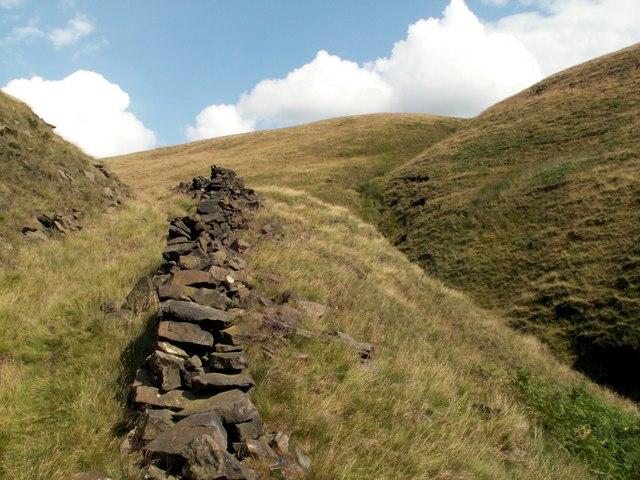 Boundary Wall alongside Ogden Clough