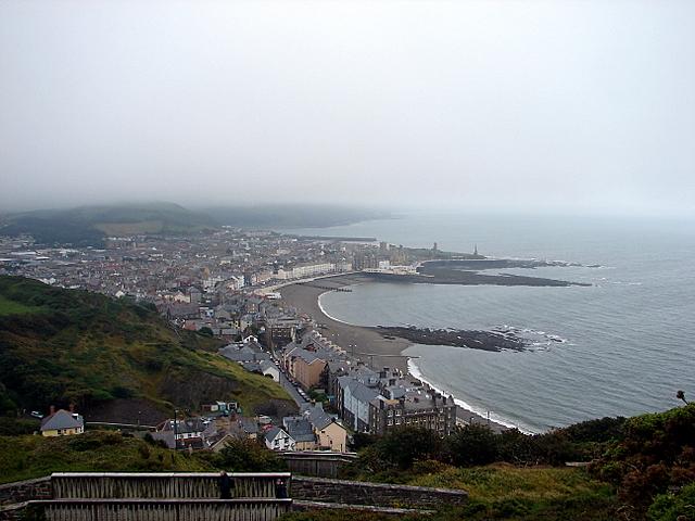 Aberystwyth on a grey day