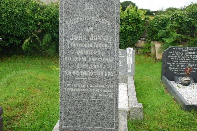 Bedd Myrddin Fardd - Grave of Myrddin Fardd