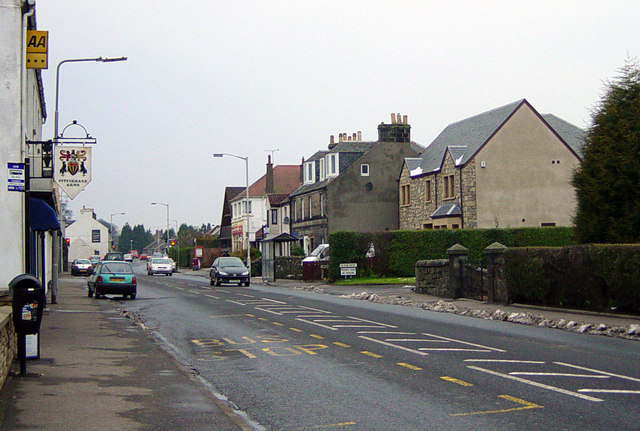Main Street, Crossford, looking west
