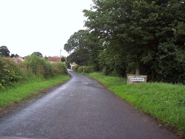 Lane into Borrowby