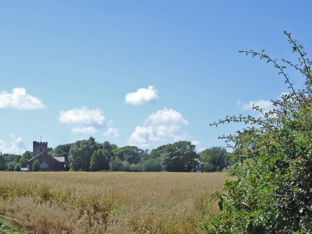View towards Hale church from the Within Way