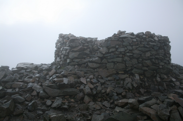 Memorial Cairn on Scafell Pike.