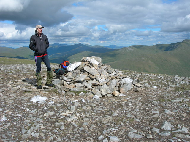 Summit cairn of Beinn Mhanach