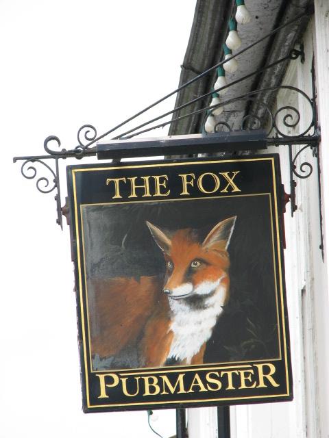 The Fox, pub sign