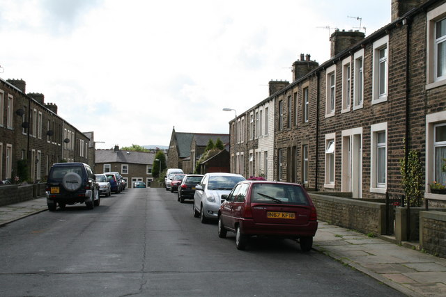 Bolland Street, Barnoldswick, looking south-east