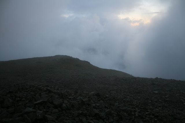 Early Morning on Scafell Pike.