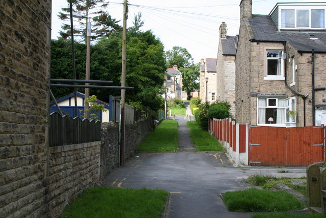 Path up to Frederick Street, Barnoldswick