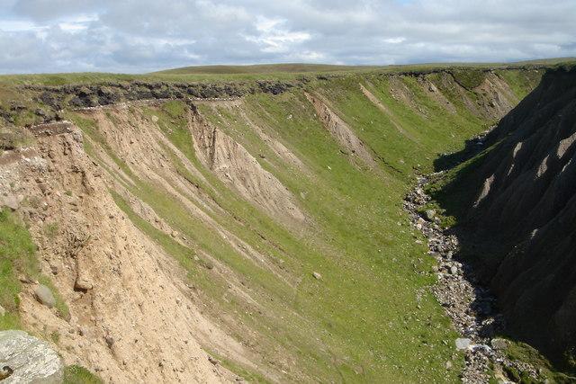 Ravine above Geodh' Eisgaidh