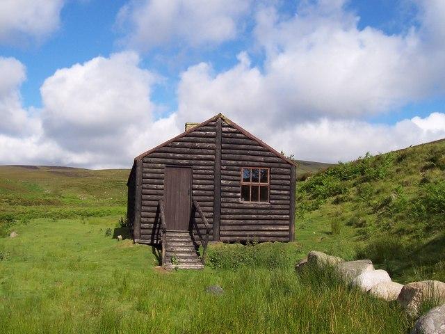 Hut beside the Linhope Burn