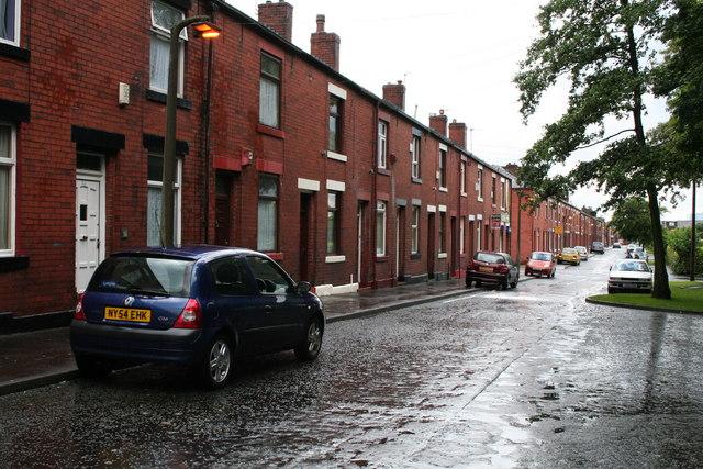 Osborne Street, Rochdale, Lancashire: looking south