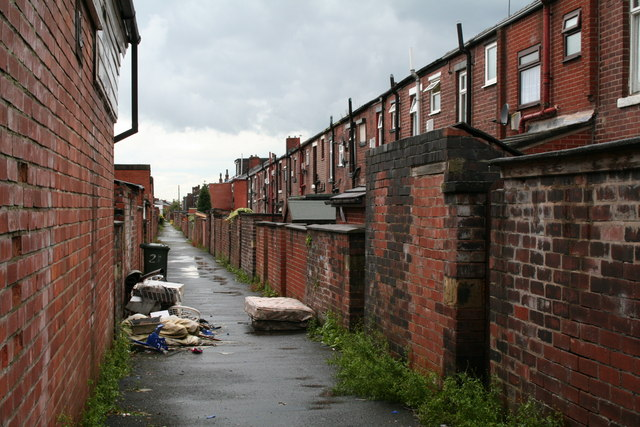 At the back of Osborne Street, Rochdale, Lancashire