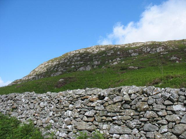 Northern end of Craig y Penmaen