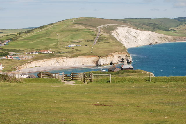 Freshwater Bay from Tennyson Down path