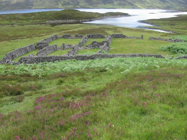 Enclosures by the head of Loch Errochty