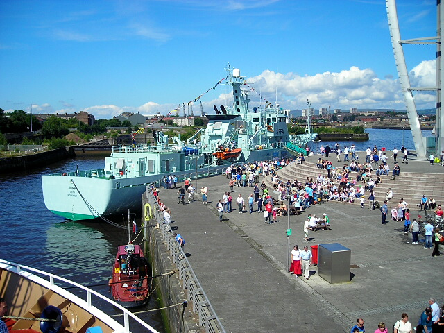 Fisheries Protection Vessel Jura at Glasgow River Festival