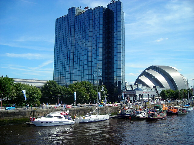 Vessels at the Glasgow River Festival