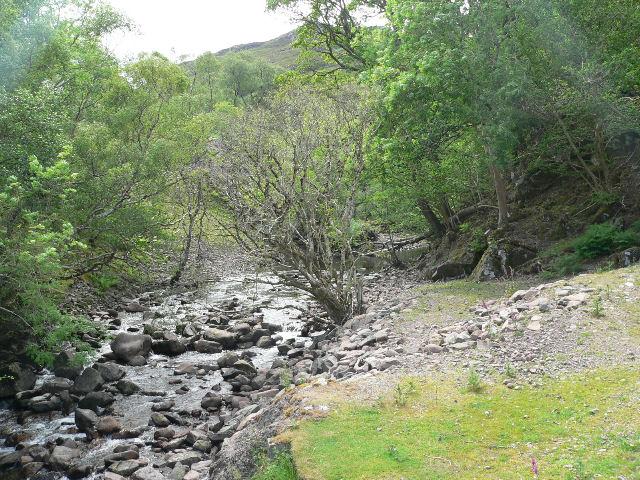 Stream  near Inverbain