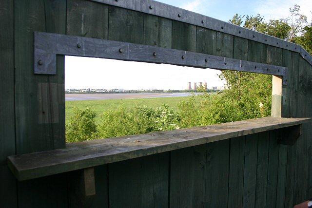 Bird hide at Wigg Island Community Park