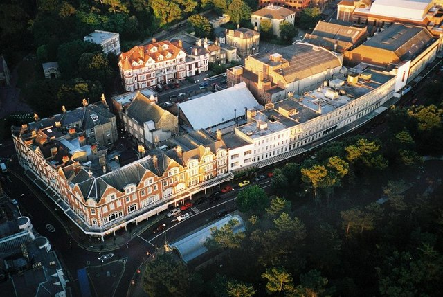 Bournemouth: façades from above