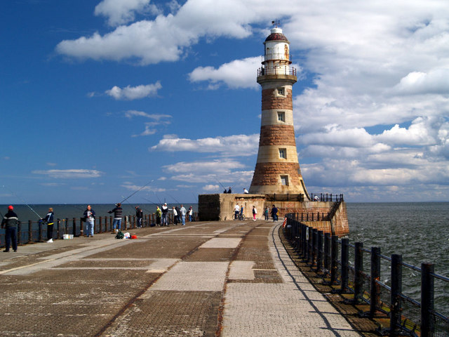 Roker North pier lighthouse.