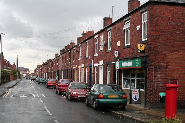 Ashfield Road, Rochdale, looking southwest