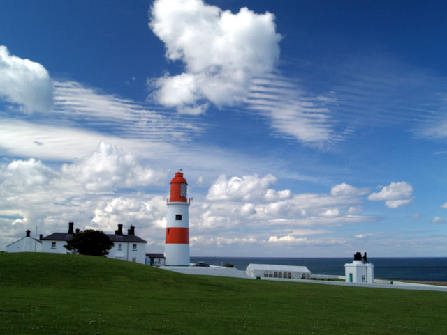 Souter lighthouse and fog horn.