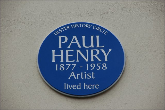 Paul Henry plaque, Belfast