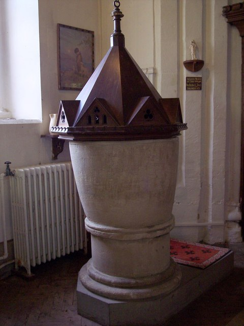 St Mary Magdalene, South Marston - Font