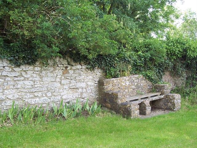 Stone seat at Sevenhampton