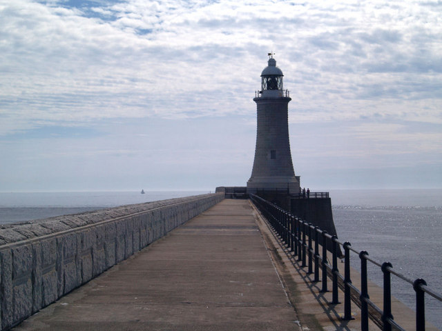 Tynemouth North pier lighthouse.
