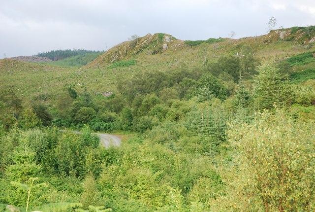 Crag near Auchoish