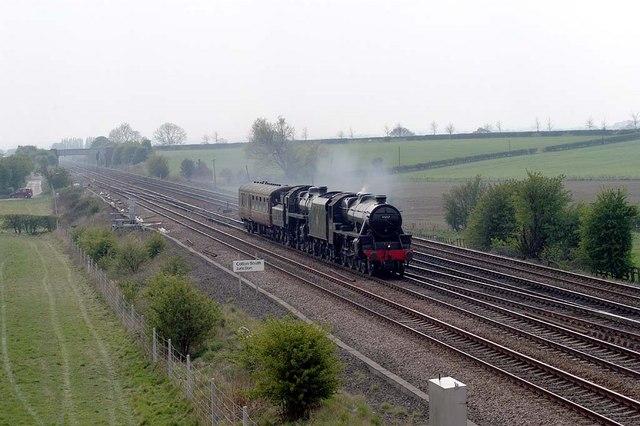 Two steam locomotives