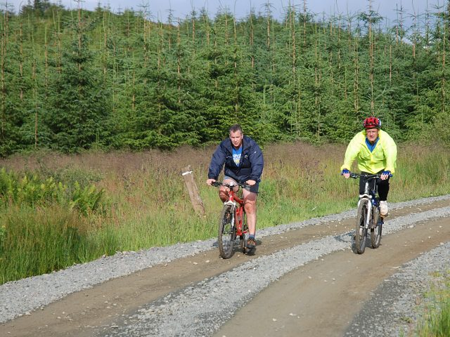 Cycling in Achnabreck Forest