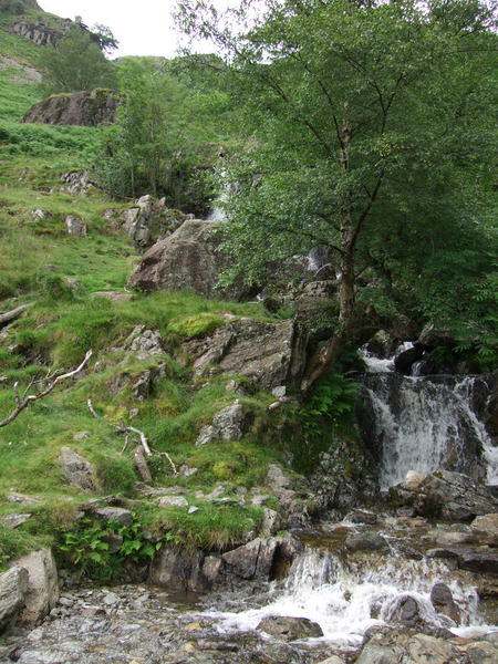 Falls on Angle Tarn Beck