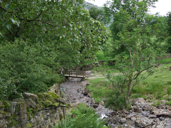 Footbridge over Angle Tarn Beck