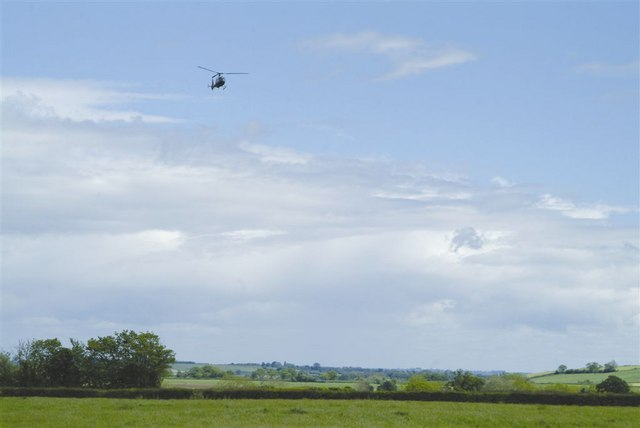 Gazelle helicopter approaching Merryfield airfield