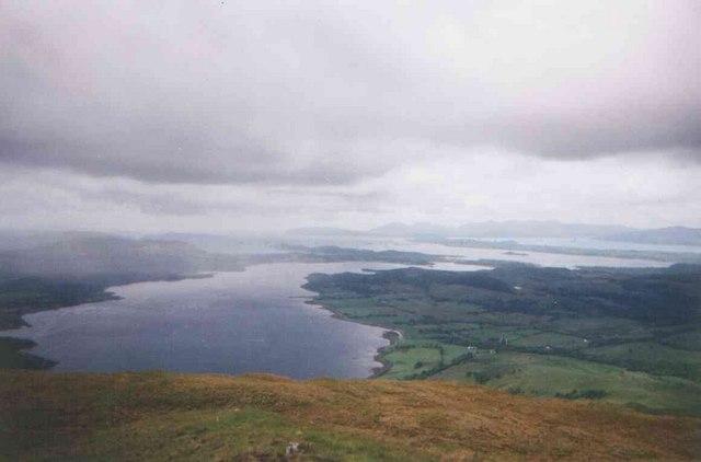 Loch Creran from Beinn Churalain
